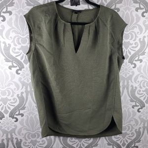 J. Crew olive textured blouse